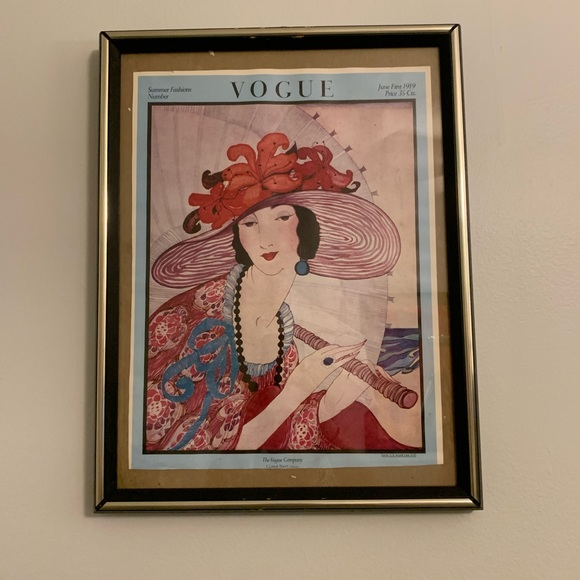 Vogue Other - Vintage Vogue Magazine Cover Poster June 1919